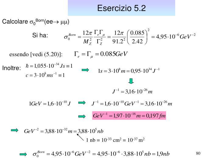 Esercizio 5.2