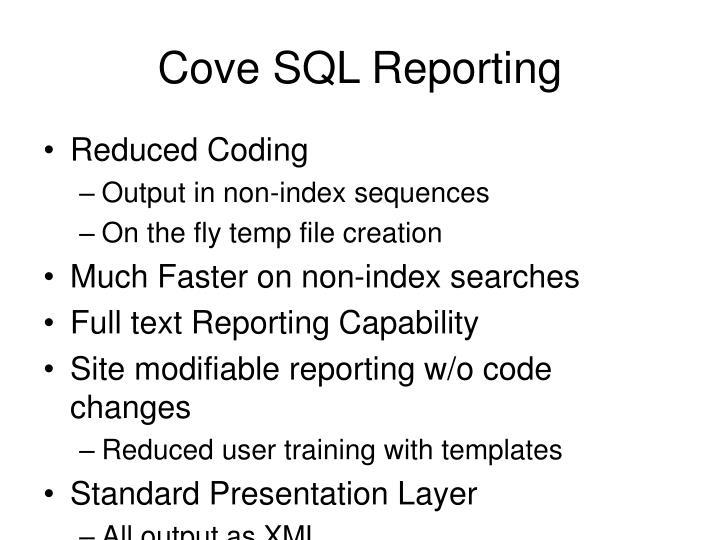 Cove SQL Reporting