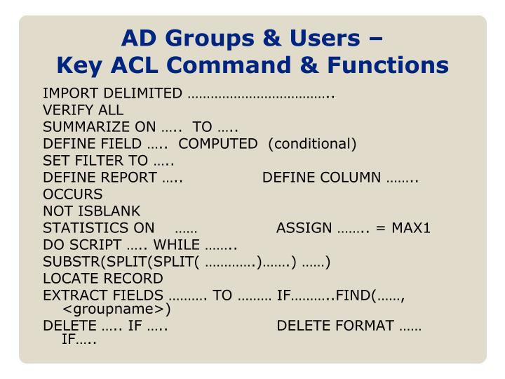 AD Groups & Users –
