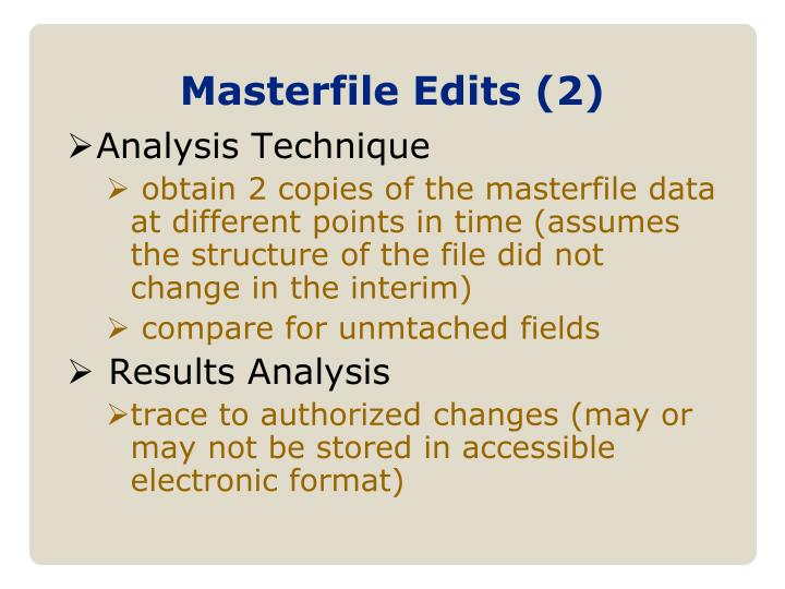 Masterfile Edits (2)