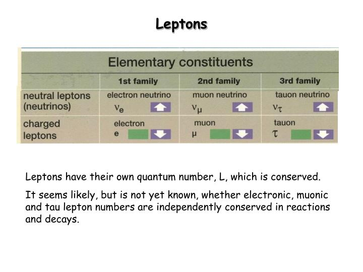 Leptons