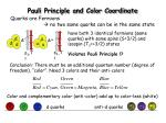 pauli principle and color coordinate