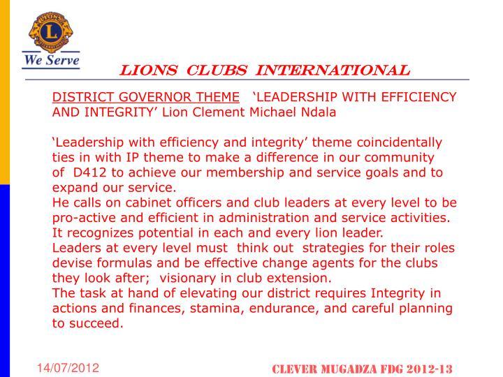 LIONS  CLUBS  INTERNATIONAL