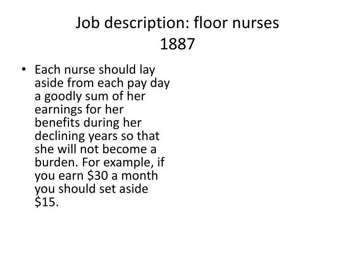 Job description: floor nurses