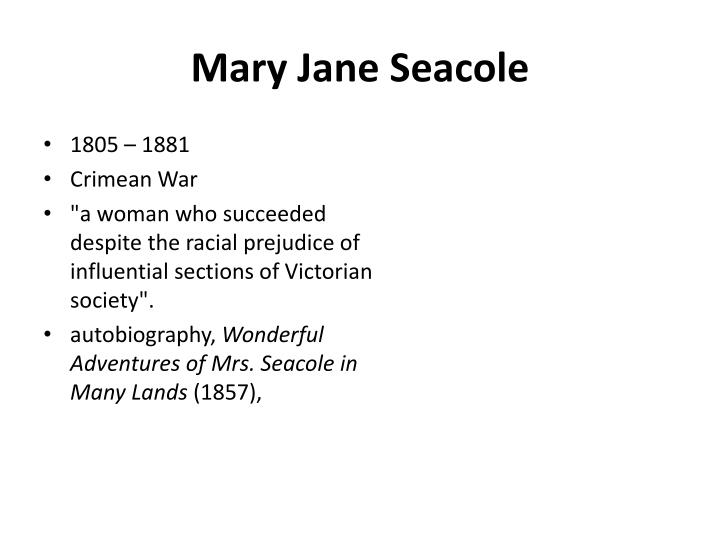 Mary Jane Seacole