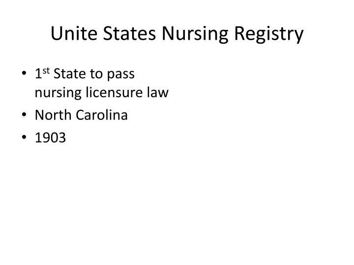 Unite States Nursing Registry