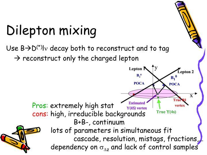 Dilepton mixing