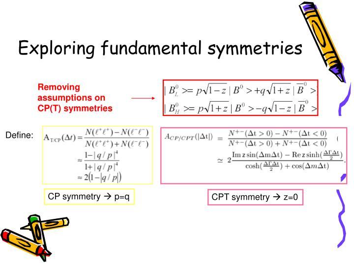 Exploring fundamental symmetries