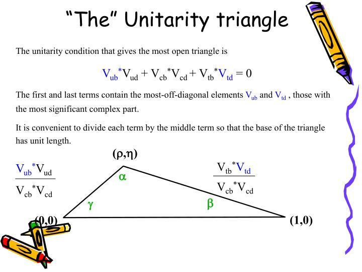"""""""The"""" Unitarity triangle"""
