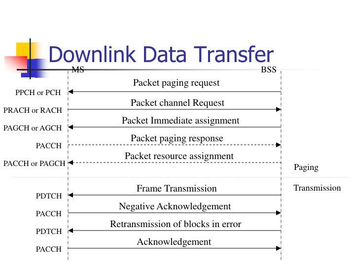 Downlink Data Transfer