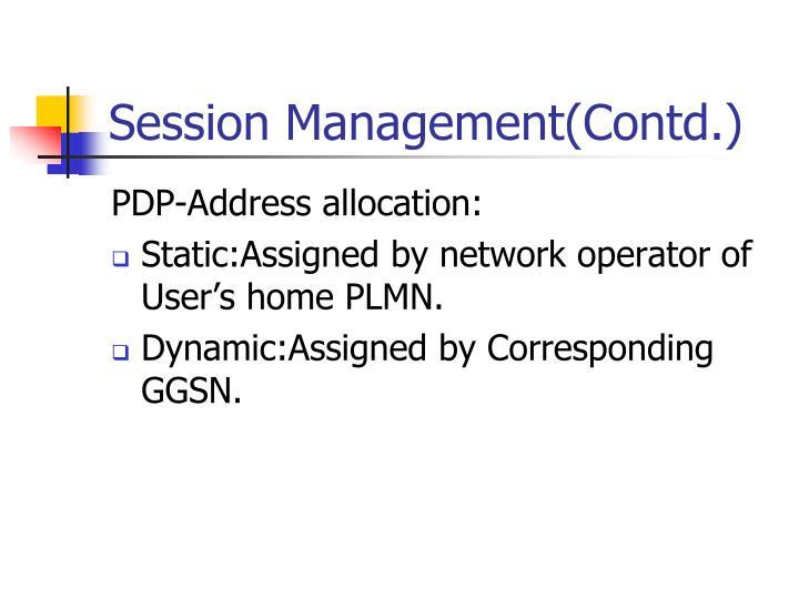 Session Management(Contd.)
