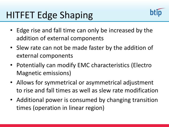 HITFET Edge Shaping