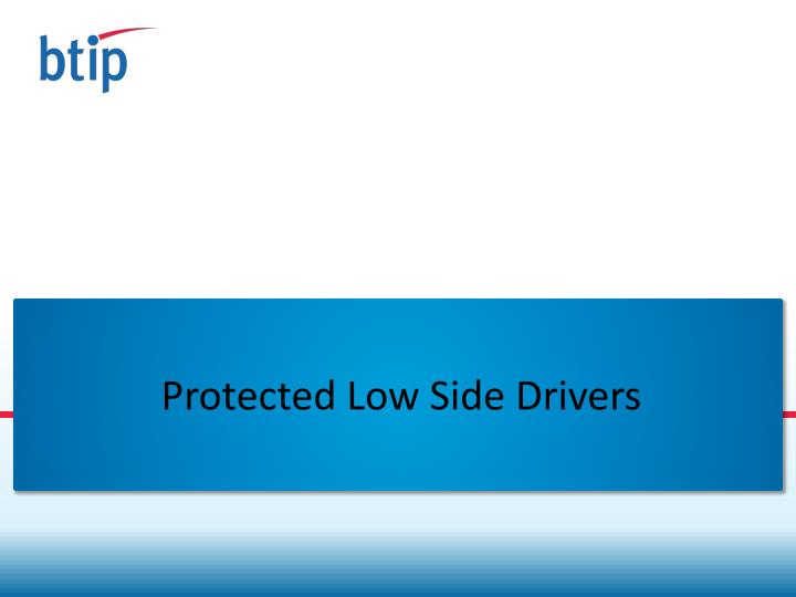 Protected low side drivers