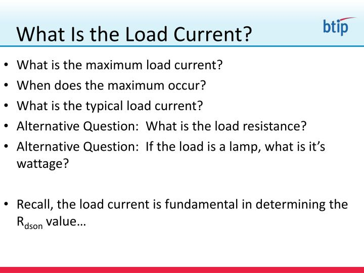 What Is the Load Current?