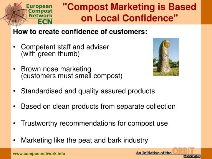 """""""Compost Marketing is Based"""
