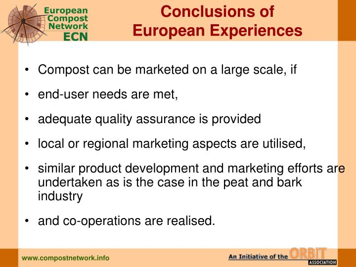 Conclusions of
