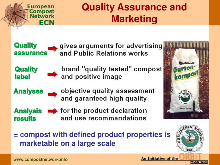 Quality Assurance and Marketing