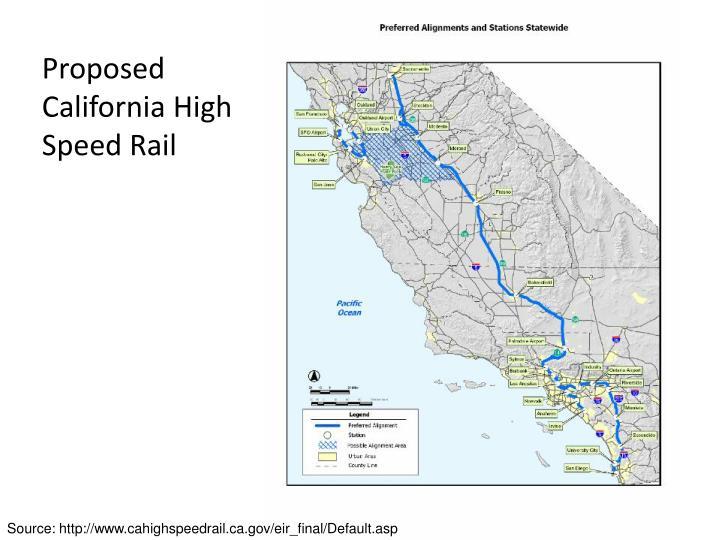Proposed California High Speed Rail