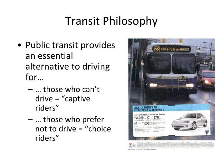 Transit Philosophy