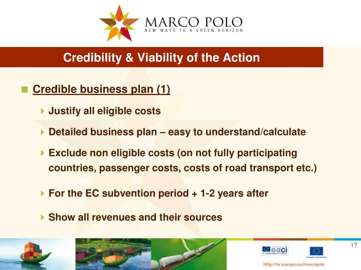 Credibility & Viability of the Action