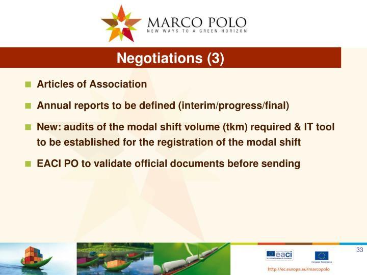 Negotiations (3)