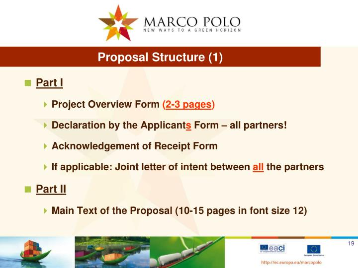 Proposal Structure (1)