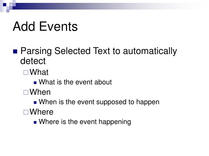 Add Events