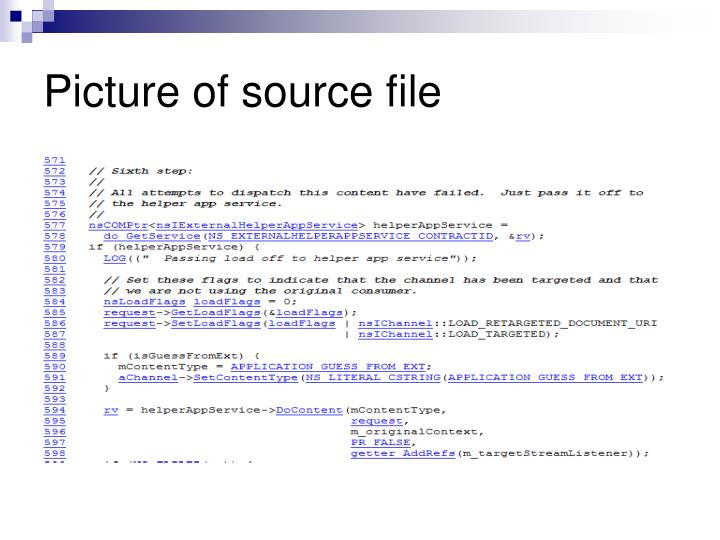 Picture of source file