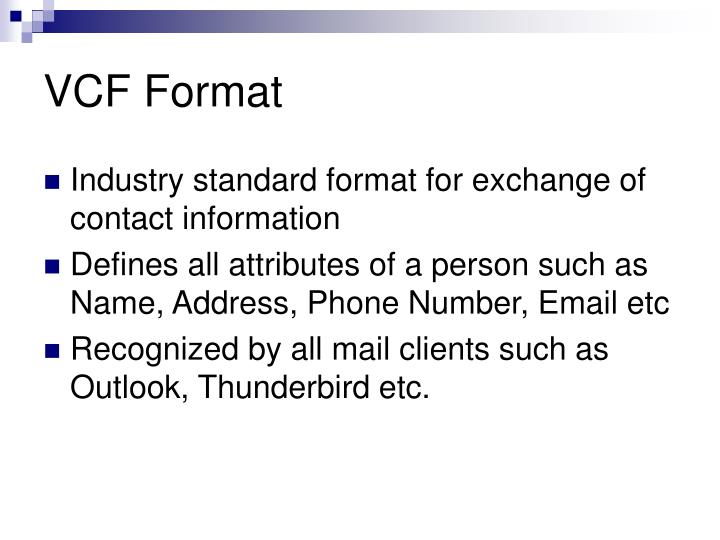 VCF Format