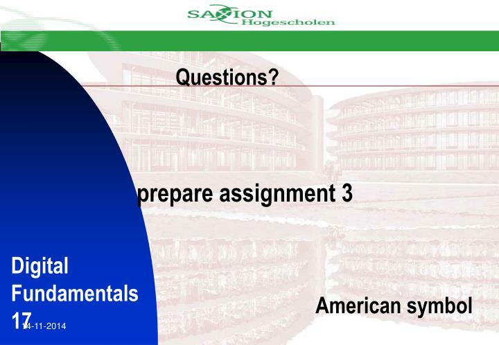 prepare assignment 3