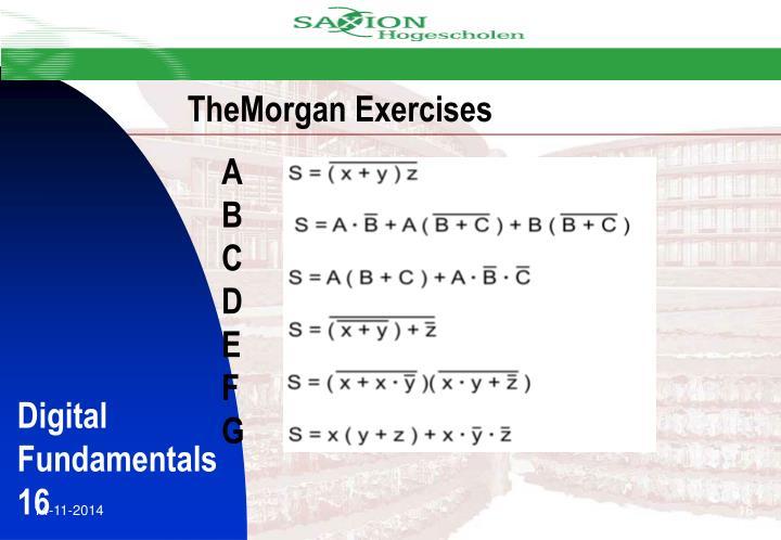 TheMorgan Exercises
