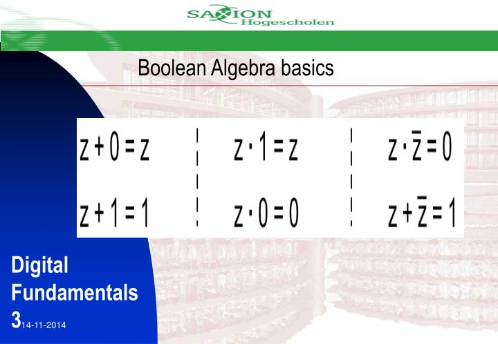 Boolean Algebra basics
