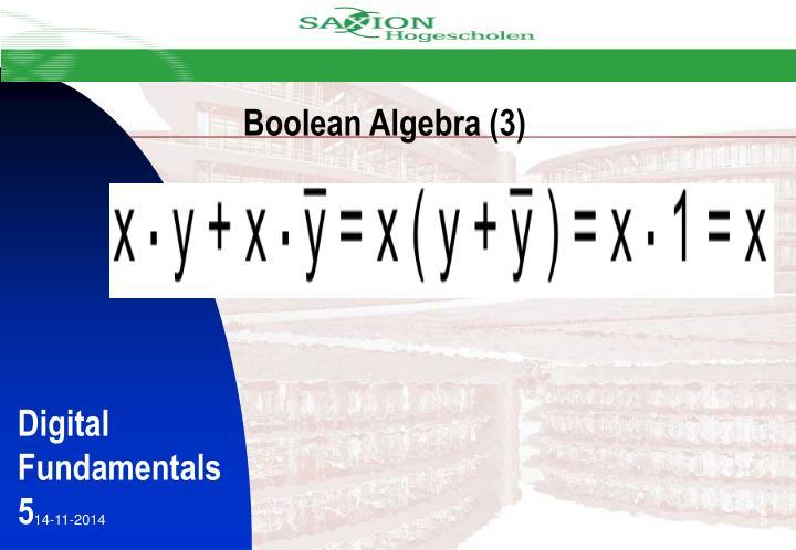 Boolean Algebra (3)