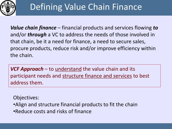 Defining value chain finance