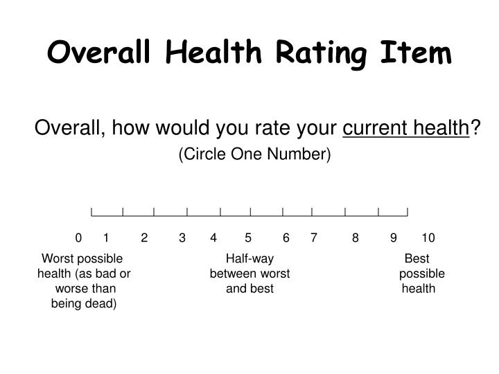 Overall Health Rating Item