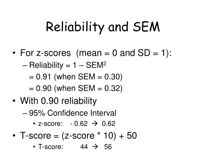Reliability and SEM