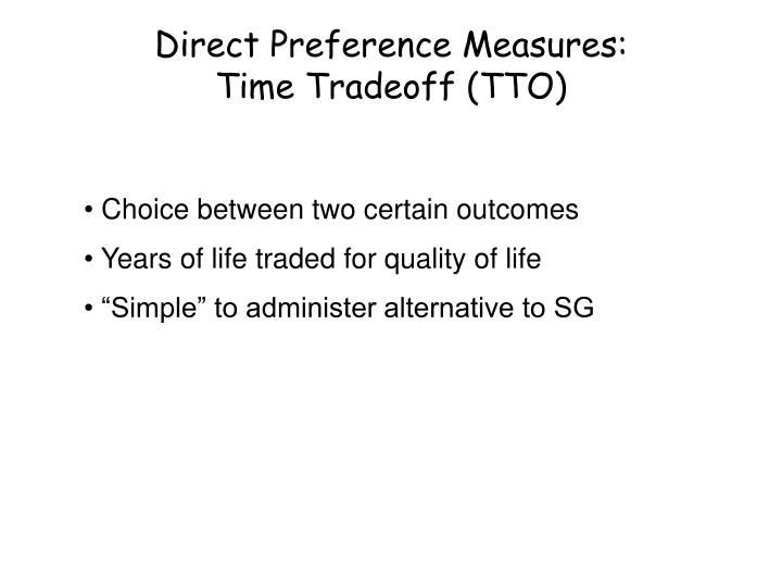 Direct Preference Measures: