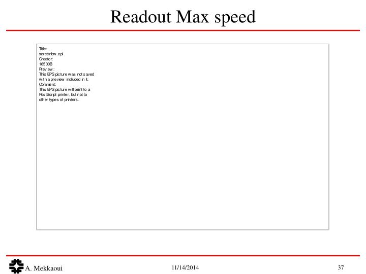 Readout Max speed