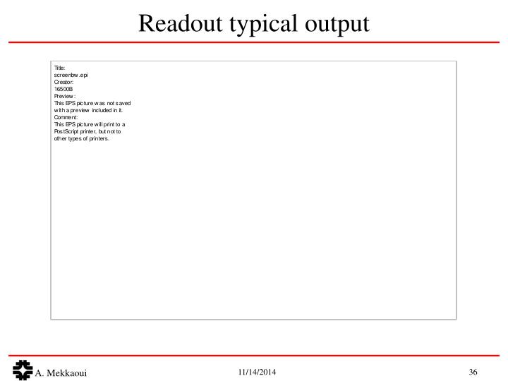 Readout typical output
