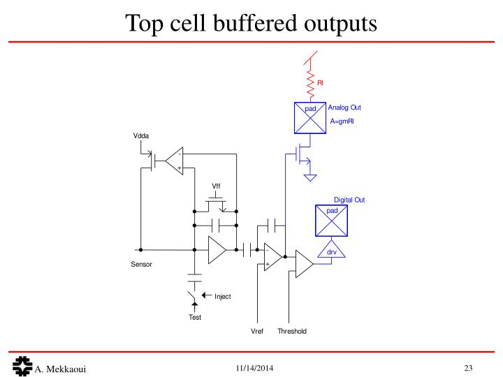 Top cell buffered outputs