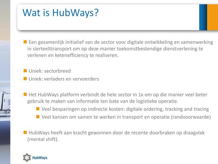 Wat is HubWays?