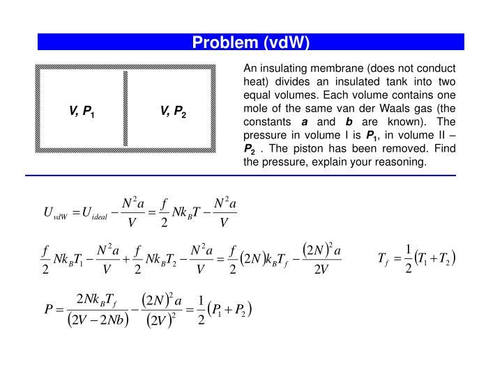 Problem (vdW)