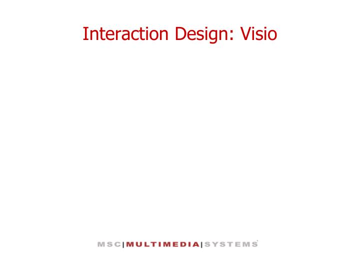 Interaction design visio