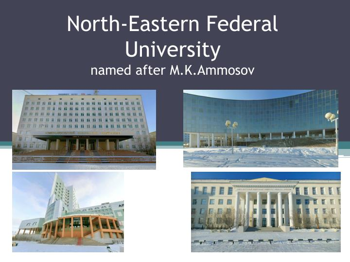 North eastern federal university named after m k ammosov