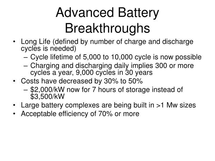 Advanced Battery Breakthroughs