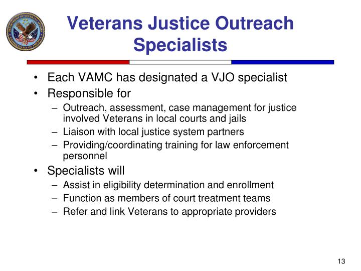 Veterans Justice Outreach Specialists