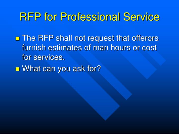 RFP for Professional Service