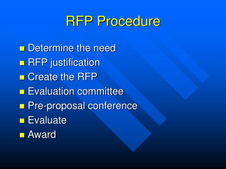 RFP Procedure