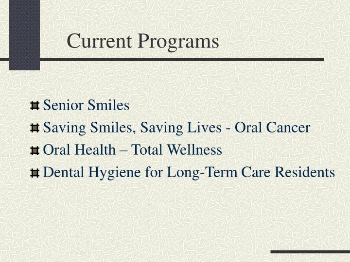 Current Programs