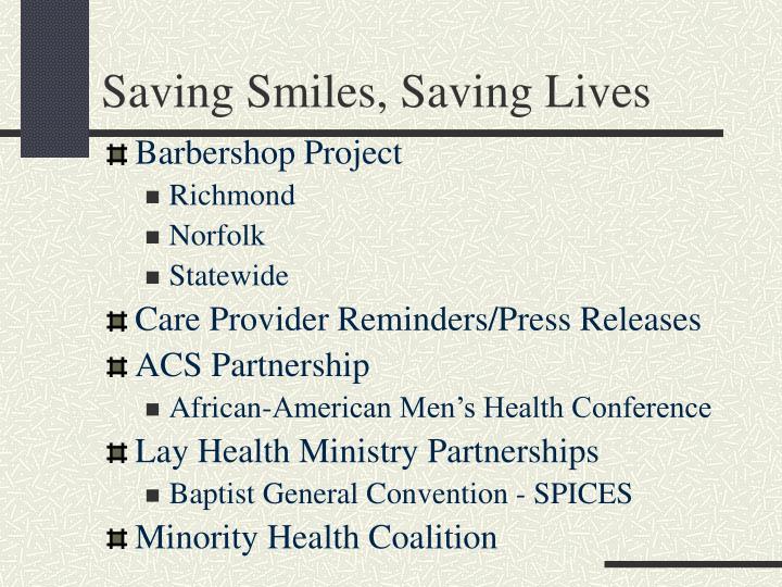 Saving Smiles, Saving Lives
